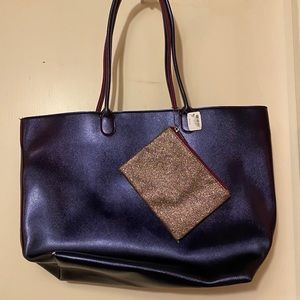 NWT tote and glitter pouch